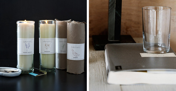 The Canvas Store   Cylinder Candles & Seltzer Cup