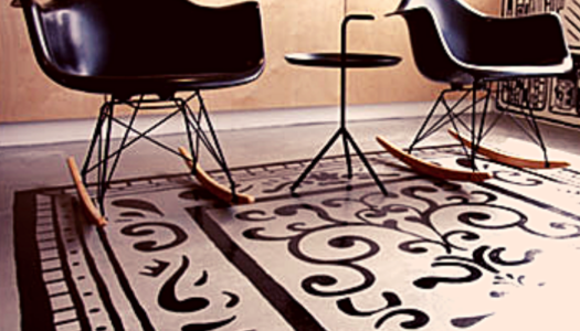 Painted Concrete Rugs