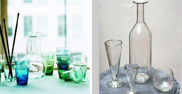 Canvas Home Store   Recylced Moroccan Tea Glasses & Recycled Glass Bottles