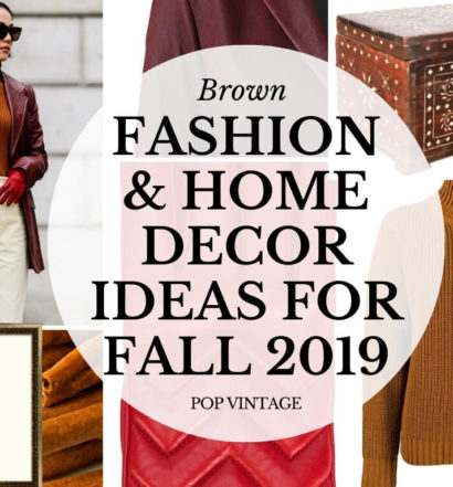 brown fall fashion and home decor collage