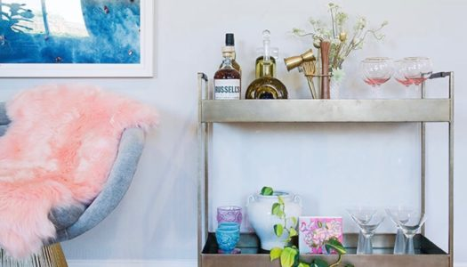 Vintage and Contemporary Bar Carts For Entertaining at Home
