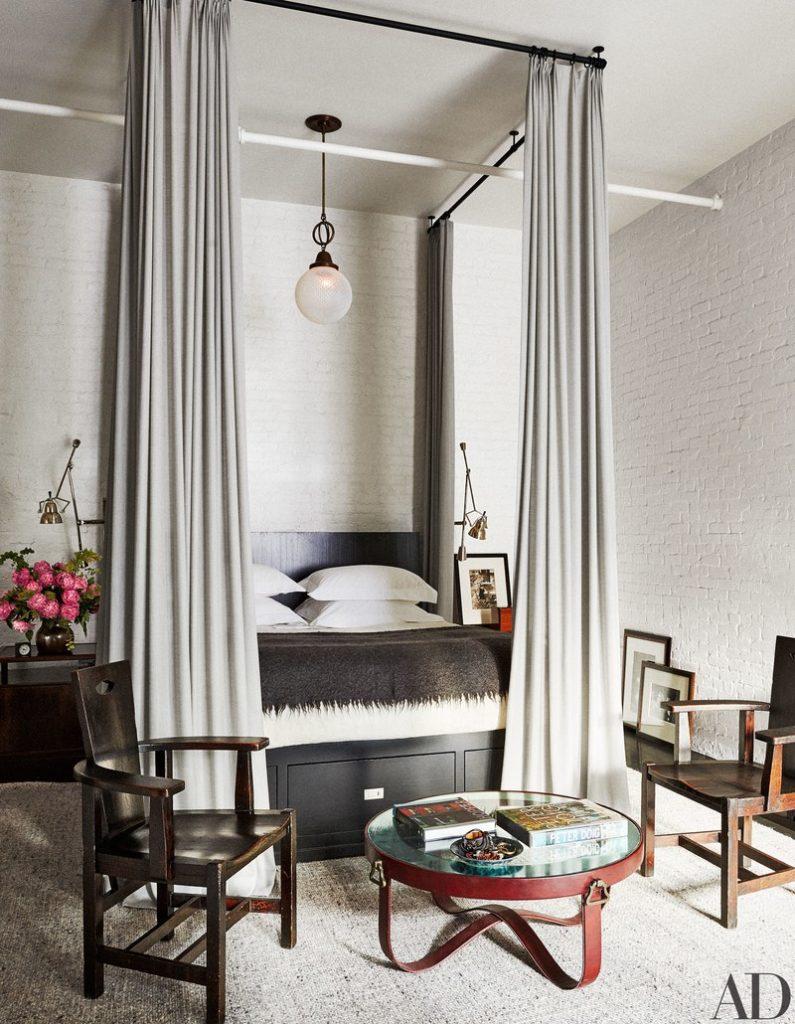 Meg Ryan's NYC Loft master bedroom