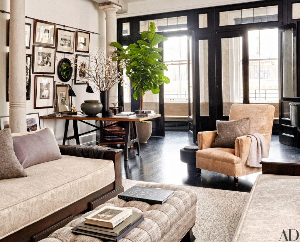 Meg Ryan's NYC loft livingroom.