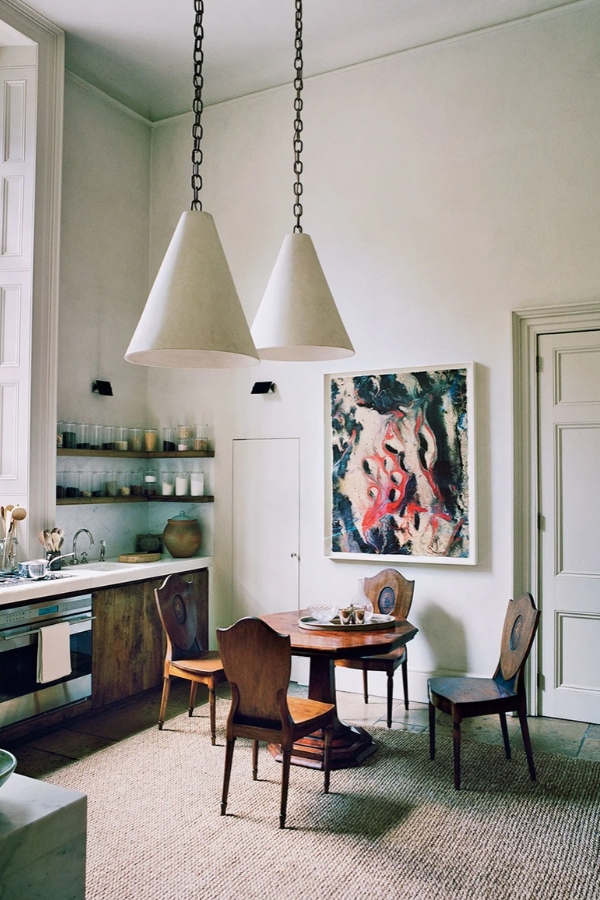 rose uniacke kitchen with antique table and chairs