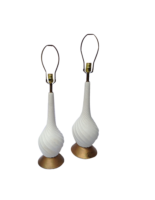 Midcentury White Lamps